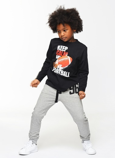 Morhipo Kids Uzun Kollu Tişört Siyah